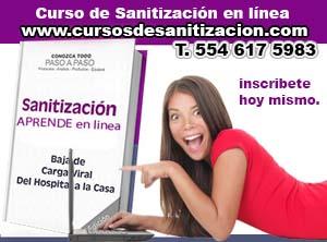 cursos de sanitizacion en linea