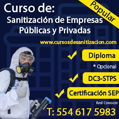 Curso de Sanitizacion de Empresas Publicas y Privadas