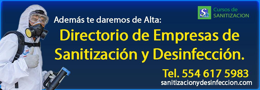 directorio de empresas de sanitizacion y desinfeccion en mexico